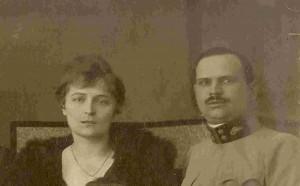 Władysław Chołodecki z żoną Katarzyną Brajenovic - 1919 rok